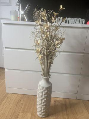 Flower vase plus flower for Sale in Chelmsford, MA
