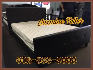 Queen bed frame with mattress included for Sale in Peoria, AZ