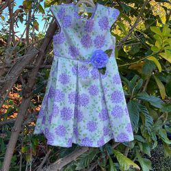 Girl Size 7 Flower Dress With Purse for Sale in Hayward,  CA