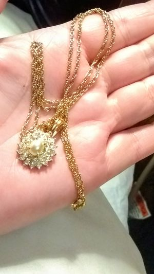 """Vintage Rinestones/Pearl Necklace/""""Roman Inc"""" for Sale in Little Rock, AR"""
