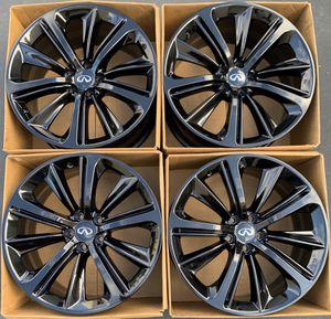 "20"" Infiniti Q60 Q50 factory wheels rims gloss black new for Sale in Tustin, CA"