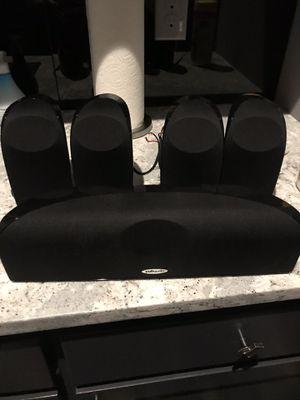 Polk Audio 5 speakers- 4 bookshelf and center speaker for Sale in The Colony, TX