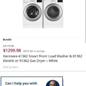Kenmore Vibration Guard Washer And Dryer for Sale in Las Vegas, NV
