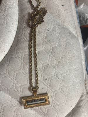 Gold pendant and chain for Sale in Carrollton, TX