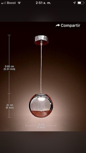 Modern LED Ball Pendant Light Kitchen Acrylic Hanging Bedroom Lamp Chandelier $70 firm for Sale in Hayward, CA