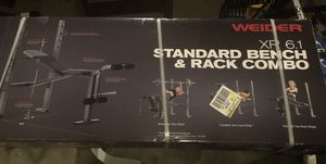 Weider XR 6.1 Standard Bench and Rack Combo for Sale in Saginaw, MI
