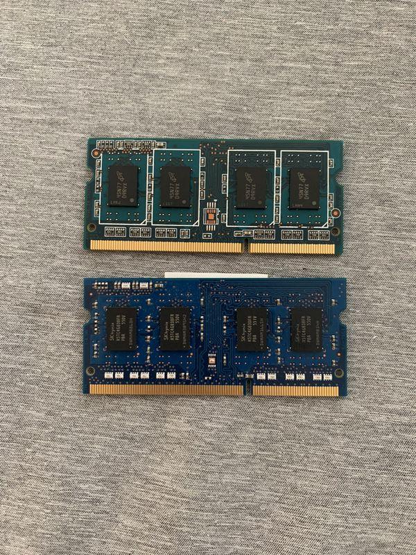 8GB Laptop PC DDR3 RAM (4GB x 2) PC3L-12800S-11-13-B4 - HP / DELL