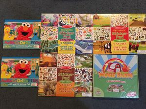 New Melissa and Doug sticker books, magnetic word farm, writing pads for Sale in Salem, SD