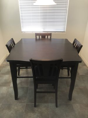 Wood Pub Style Kitchen Table with Chairs for Sale in Gilbert, AZ