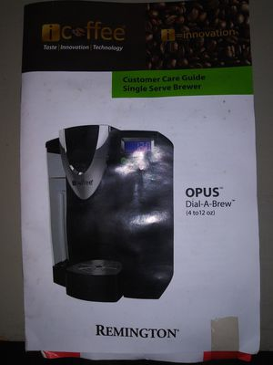 Remington pod coffee maker for Sale in Suitland, MD