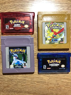 Pokemon Gameboy Game Bundle Ruby Gold Sapphire for Sale in Lincoln, NE