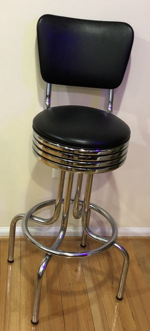Black Leather Chair Bar Stool for Sale in Centreville, VA