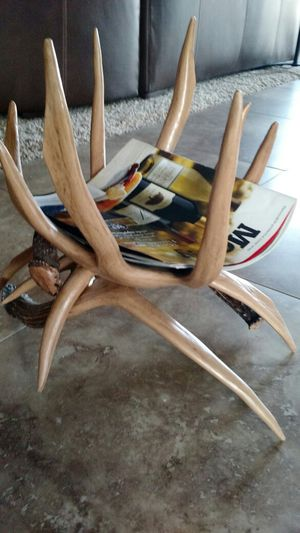 Antler magazine rack and trash can for Sale in Henderson, NV
