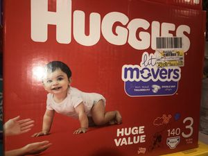 Huggies Little Movers Size 3 (140) for Sale in North Las Vegas, NV