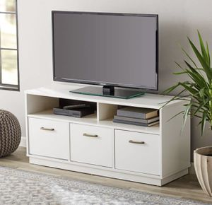 """White TV stand console up to 55"""" tvs - NEW for Sale in Taylor, MI"""