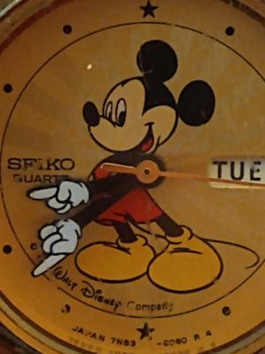 "Authentic 'GOLD' Walt Disney Mickey Mouse watch. Certified with numbers, unique, ""SEIKO"" for Sale in St. Petersburg, FL"