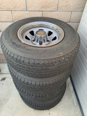 Ford Bronco Wheels and Tires 31x10.5x15 fit F150 Dodge Jeep for Sale in Glendora, CA