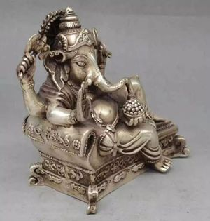 ** India Wealth God Ryecline Statue. Collectible Old Handwork Silver Plate..** for Sale in Brooklyn, NY