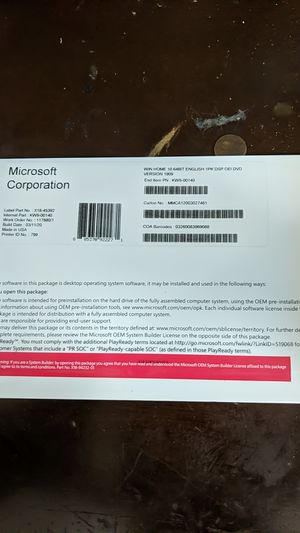 Windows 10 - Home - OEM - DVD VERSION for Sale in Phoenix, AZ