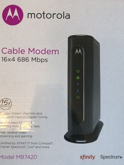 Motorola MB 7420 Cable Modem for Sale in Frederick,  MD