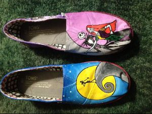 The Nightmare Before Christmas Hand-painted Toms for Sale in Fairview, OR