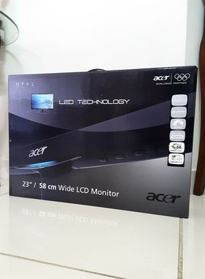 """Acer S232HL Abid 23"""" LED Backlit Widescreen LCD 1080 Monitor. Brand New in Box. for Sale in Davie, FL"""