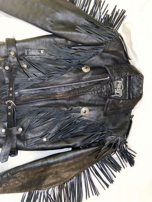 WOMENs - Black Leather Jacket - Size 40 for Sale in Tampa, FL