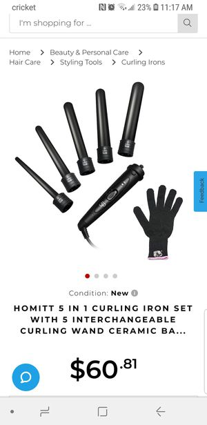 Homitt beauty hair curling iron for Sale in Modesto, CA