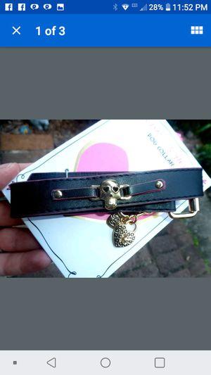 Betsey Johnson skull dog collar for Sale in Tullahoma, TN