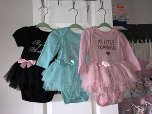 Baby girls Lace Romper Jumpsuit Clothes. 3-6 and 6-9months. All 4 for $20 for Sale in Gaithersburg, MD