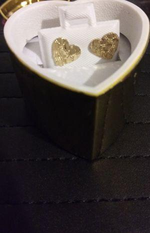 10k gold heart nugget earrings for Sale in Avondale, AZ