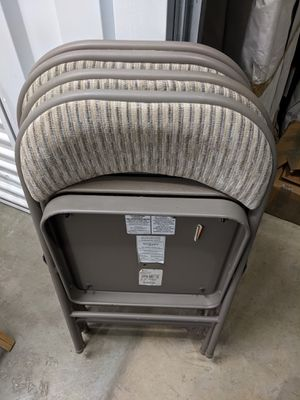 Upholstered folding chairs for Sale in Rockville, MD