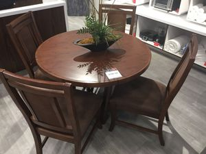Light brown dining table + 4 matching chairs - Mandalay for Sale in Saint Charles, MO