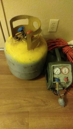 Freon Recovery machine with r-22 recover tank for Sale in Las Vegas,  NV