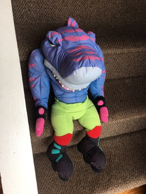"street Shark mattel streex 20"" Stuffed Soft Hand Puppet RARE for Sale in East Islip, NY"