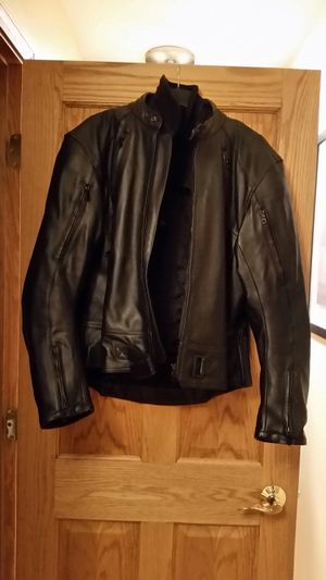 TRIUMPH full leather & kevlar motorcycle jacket for Sale in Glendale Heights, IL