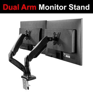 "(NEW) $35 VIVO (V002O) Fully Adjustable Dual Monitor Stand, Desk Mount, Screens up to 27"" for Sale in South El Monte, CA"