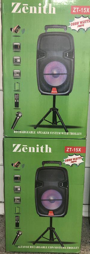 Zenith speakers karaoke for Sale in St. Petersburg, FL