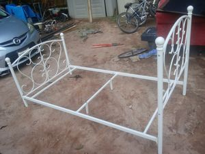 Twin metal bed frame for Sale in Morrow, GA