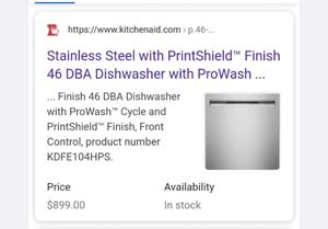 Dishwasher Brand new Retail $899.00 Sacrifice $699.00 for Sale in Lincolnwood, IL