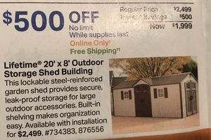 Lifetime 20x8 Outdoor Storage Shed Building for Sale in Las Vegas, NV