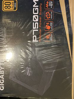 Gigabyte GP-P750GM 750W ATX Gold Certified Fully Modular Power Supply (PSU) -sealed for Sale in Austin,  TX