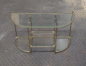 Mid-Century Wall Shelf With Glass Shelves for Sale in Burlington, NC