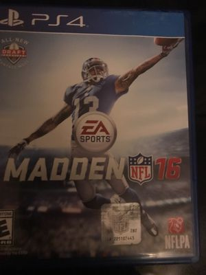 Video game madden 16 good quality for Sale in West Palm Beach, FL