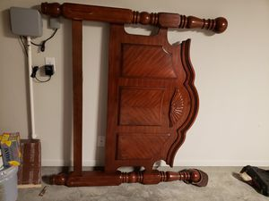 Solid wood bed frame for Sale in Temple, TX