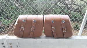 Indian Genuine Leather Saddle Bags - Desert Tan for Sale in Hillsborough, CA