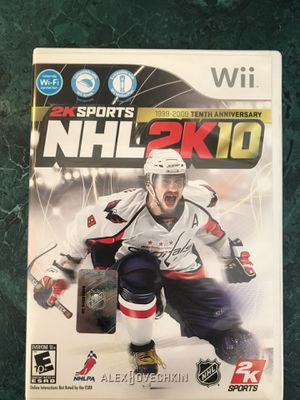 2K Sports NHL 2K10 (10th Anniversary Addition) - Wii for Sale in Clayton, NC