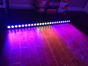 72 Watts 24 led wash light RGB DMX control sound activation for wedding birthday Christmas party DJ lights stage lighting for Sale in Claremont, CA