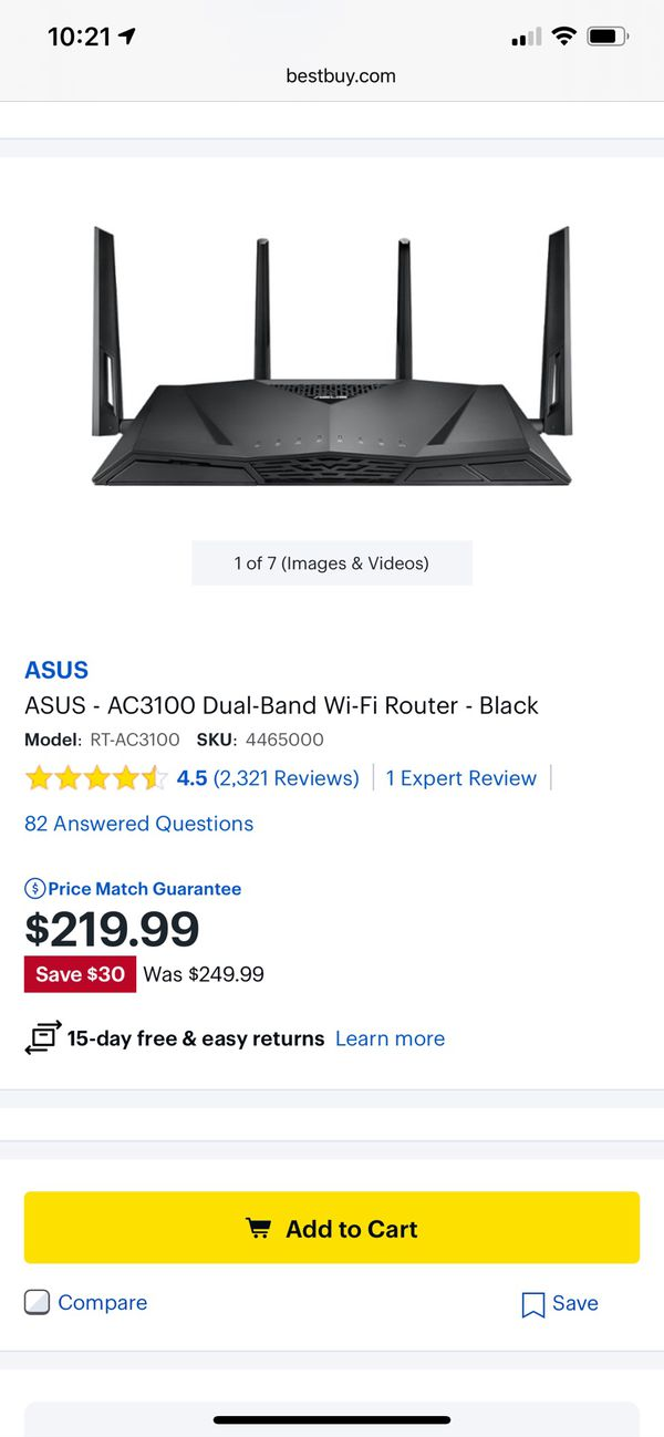 ASUS AC3100 extreme WiFi router