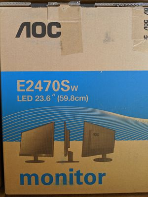 LED PC Monitor -AOC 24 inch for Sale in Redlands, CA